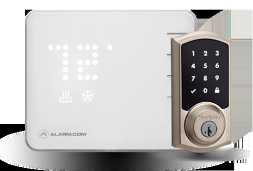 Smart thermostat and door lock