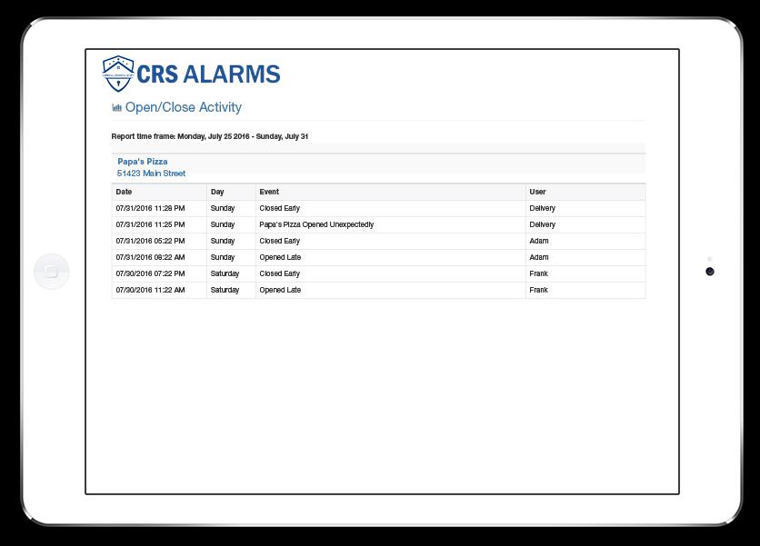 iPad Branded Shots-CRS alarms