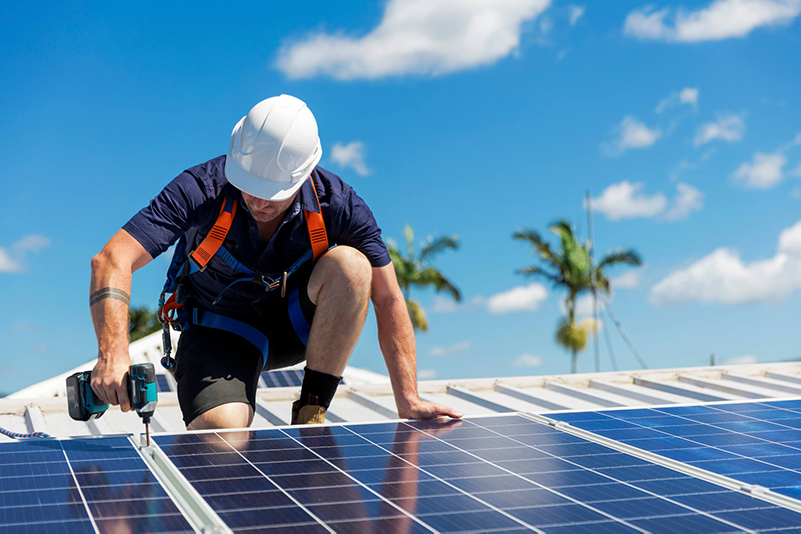 Solar Install Horizontal